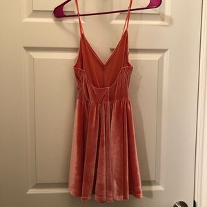 Urban Outfitters Dresses - Pink Velvet Crush Romper size SMALL
